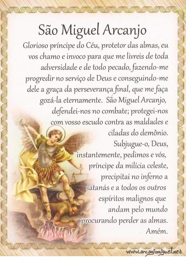 Super Oração de São Miguel Arcanjo pelo Papa Leão XIII - Oração de São  PB62